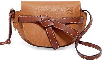 Gate Mini Textured-leather Shoulder Bag - Tan