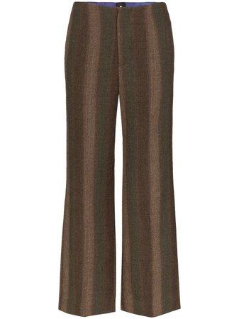 ASAI striped wool trousers