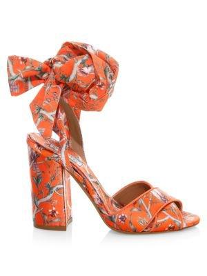 Tabitha Simmons x Johanna Ortiz Connie Floral Wrap Slingback Platform Sandals