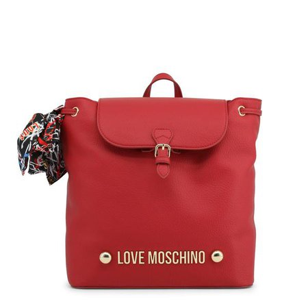 Backpacks | Shop Women's Love Moschino Red Padded Leather Backpack at Fashiontage | JC4123PP16LV_0500-Red-NOSIZE