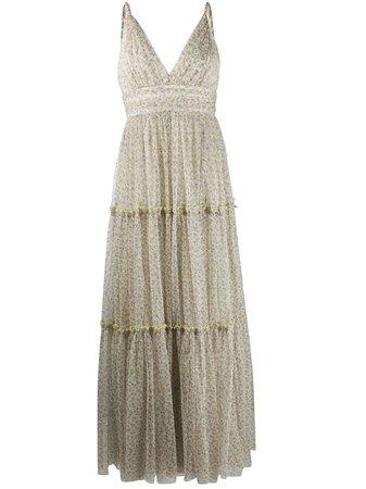 Jonathan Simkhai Floral Print Tiered Dress - Farfetch