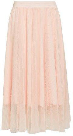 Blush Tulle Full Midi Skirt