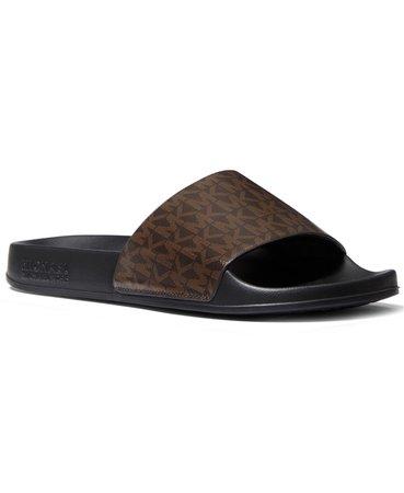 Brown Logo Michael Kors Gilmore Slide Sandals & Reviews - Sandals - Shoes - Macy's