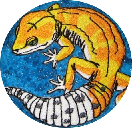 leopard gecko iron on patch