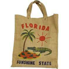 Vintage Florida tote-bag