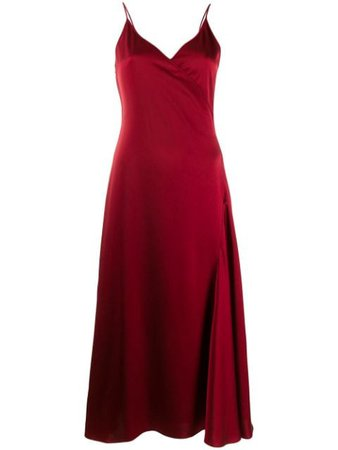 Shop red Filippa K Callie wrap dress with Express Delivery - Farfetch