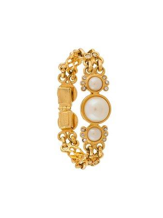 Versace '90S Pearl Link Bracelet