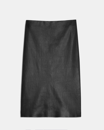 Pencil Skirt in Leather | Theory