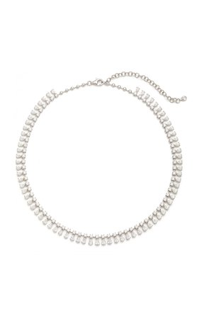 Anita Ko Round And Pear Diamond Shaker Necklace