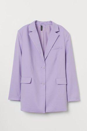 Oversized Blazer - Purple