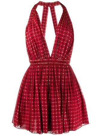 Saint Laurent Floral Appliqués Mini Dress Ss20   Farfetch.com