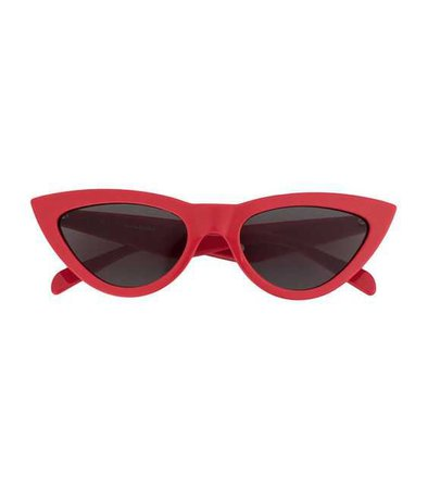 CELINE red cat eye sunglasses