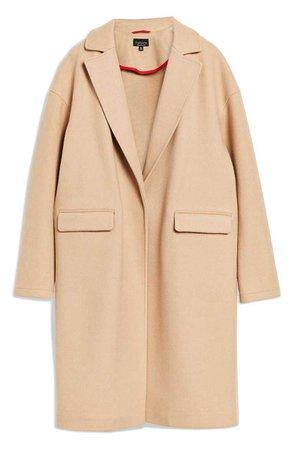 Topshop Lily Knit Back Midi Coat | Nordstrom
