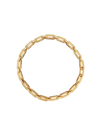 Gold Burberry Resin And Gold-plated Chain Link Necklace | Farfetch.com