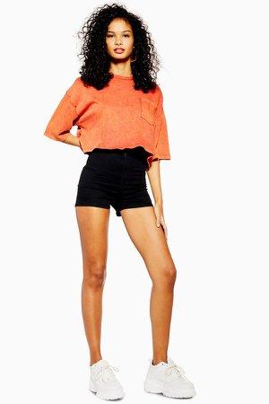 Black Denim Joni Shorts