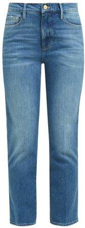 Le Sylvie Straight Leg Cropped Jeans - Womens - Denim