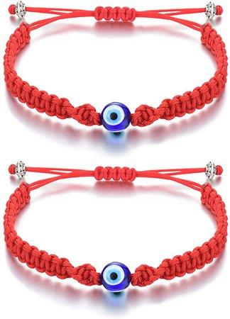 Amazon.com: Tarsus Red String Evil Eye Bracelet for Women Teen Girls Kabbalah Good Luck Lucky Preotection Nazar Amulet: Clothing