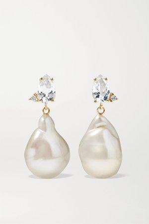 Gold 14-karat gold multi-stone earrings | Mizuki | NET-A-PORTER