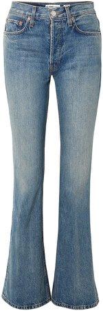 High Break Faded High-rise Flared Jeans