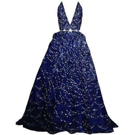 Dark-Blue Zuhair Murad Gown (Couture)