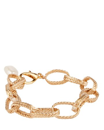 STVDIO   Colette Pearl-Trimmed Chain Bracelet   INTERMIX®