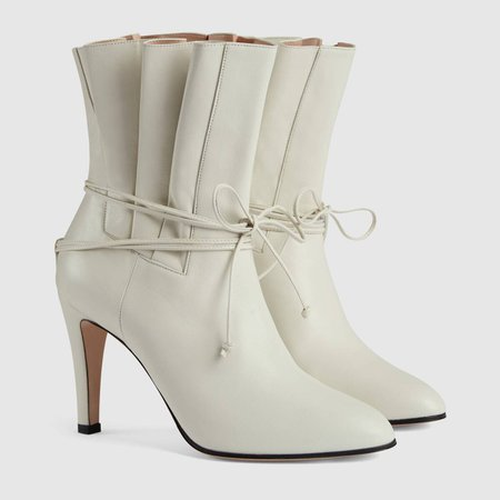 white leather Leather ankle boot   GUCCI® US