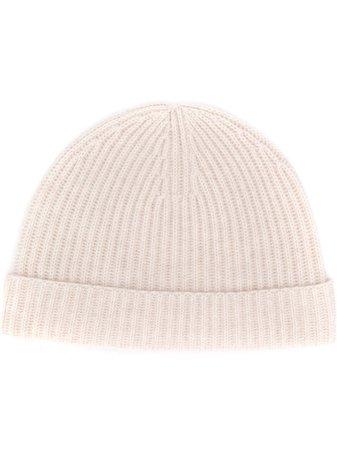 N.peal Ribbed Beanie Hat