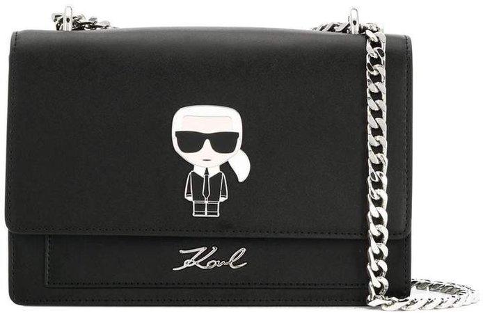 K/Ikonik metal lock shoulder bag