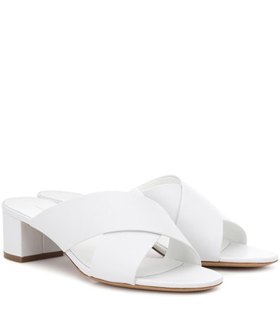 40mm Crossover leather sandals