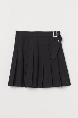 Pleated Skirt - Black - Ladies | H&M US