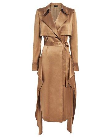 Cushnie | Satin Trench Wrap Dress | INTERMIX®