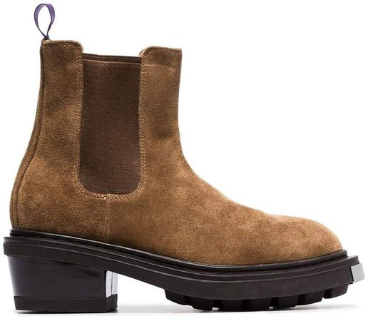 brown nikita suede leather boots