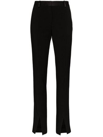 Victoria Beckham high-waisted Front Split Trousers - Farfetch