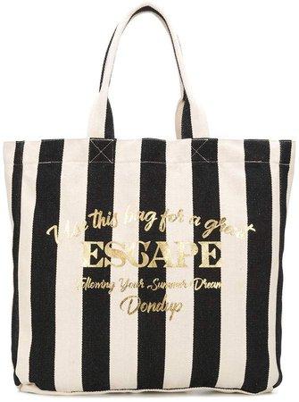 Escape large striped canvas tote bag