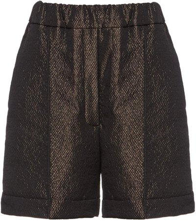 Studio Cut Elasticized Twill Shorts