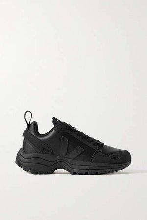Veja Vegan Leather And Suede Sneakers - Black