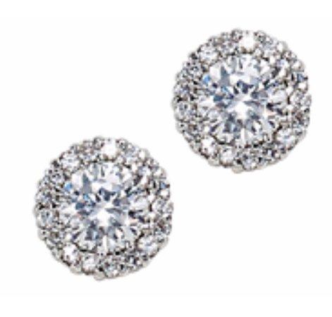 Sparkling Pierced Stud Earrings