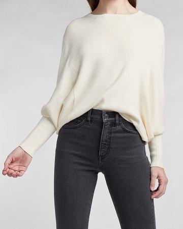 Blouson Sleeve Crew Neck Sweater