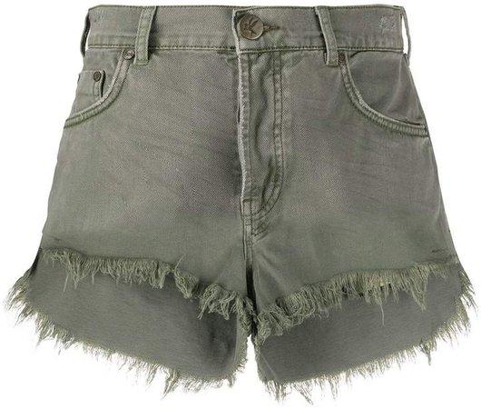 Le Wolves denim shorts