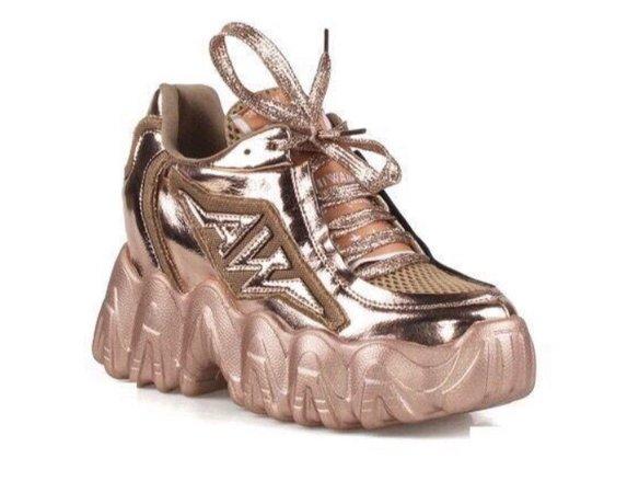 fancy babe sneakers rose gold