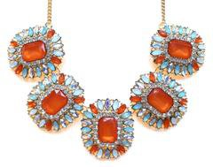 Crystal Orange Statement Necklace – KAY K COUTURE