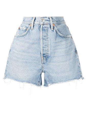 RE/DONE cut-off denim shorts - FARFETCH