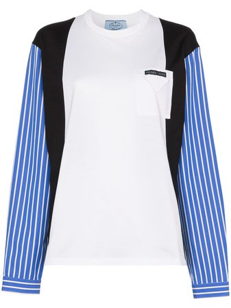 Prada Panelled Cotton T-shirt
