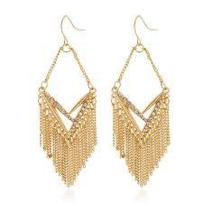 gold boho earrings - Google Search