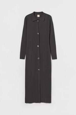 Rib-knit Dress - Gray