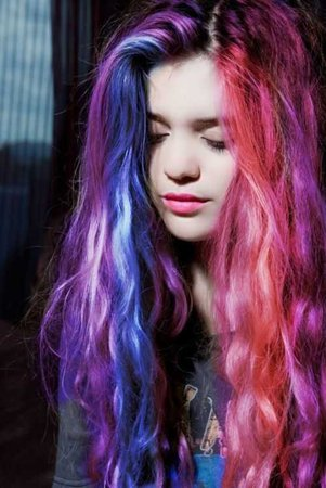 Bi Colors Pride Hair