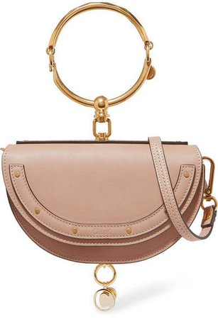 Nile Bracelet Mini Textured-leather Shoulder Bag - Beige