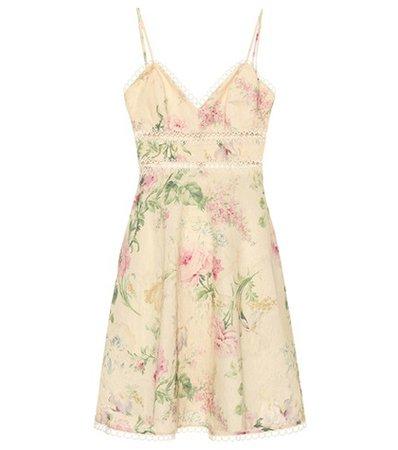 Iris cotton and linen minidress