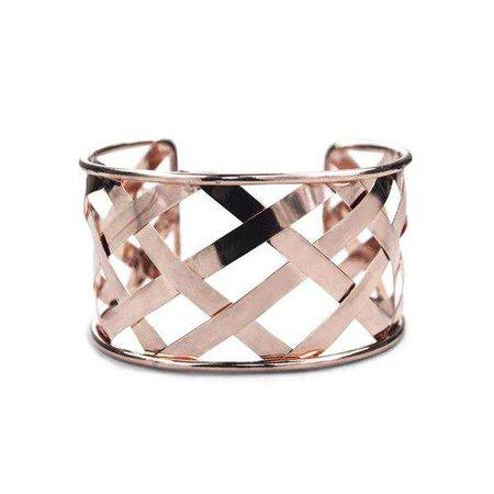 Bracelets | Shop Women's Rose Gold Cuff Bracelet at Fashiontage | B7007.2