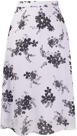 high waisted floral print skirt